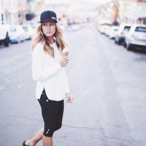 Athleta Cream/Off-White Varsity Sweater